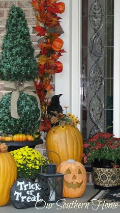 Southern Fall Porch - Our Southern Home