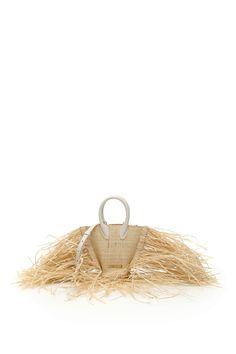 Jacquemus Le Petit Baci Raffia Bag In Beige Jacquemus Bag, Long Fringes, Basket Bag, Fringe Trim, World Of Fashion, Luxury Branding, Beige, Color, Colour