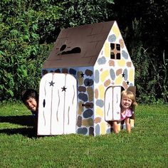 A playhouse that your kids can color and paint themselves!