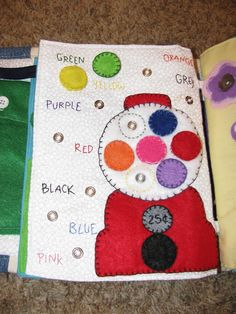 Bert and Kate plus The Fattest Quiet Book Ever! Katie also has a board full of quiet book page ideas! Diy Quiet Books, Baby Quiet Book, Felt Quiet Books, Baby Crafts, Felt Crafts, Book Projects, Sewing Projects, Sensory Book, Quiet Book Patterns