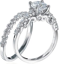 Verragio Round Brilliant Cut Diamond Engagement Ring  : This beautiful engagement ring setting is from the Verragio Insignia Collection and features bar set round brilliant cut diamonds on the shoulders to enhance the beauty of the center stone of your choice.
