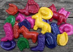 Western Party Favor Set Doodler Crayons. $25.00, via Etsy.