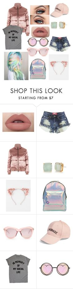 """""""Pastel girl"""" by reb-hood ❤ liked on Polyvore featuring Topshop, Kate Spade, Full Tilt, Mi-Pac, Karen Walker, Amici Accessories and Betsey Johnson"""