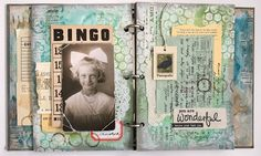 Background Stamping Techniques and Upcycled Journal
