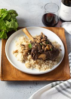 Mediterranean Lamb Shanks | DIVERSE DINNERS Herb Stuffing, Stuffing Recipes, Lamb Dishes, Food Dishes, Roasted Squash Soup, Lamb Shanks, Tea Time Snacks, Aromatic Herbs