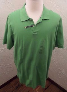 CLUB ROOM Mens Size Large Polo Pullover Shirt Green NWT #ClubRoom #PoloShirt