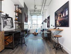 parquet en bois contrecollé de design-industriel pour petit espace