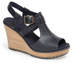 Navy Leather Wedge Sandals by Timberland. Buy for $129 from Nordstrom