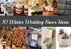 Winter Wedding Favors