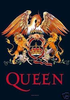 QUEEN-Freddie-Mercury-Crown-Crest-29-X43-Cloth-Fabric-Poster-Flag-Banner-New