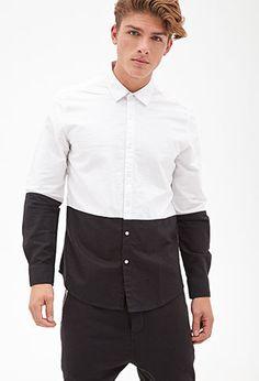 Colorblocked Button-Down Shirt | 21 MEN - 2000137474