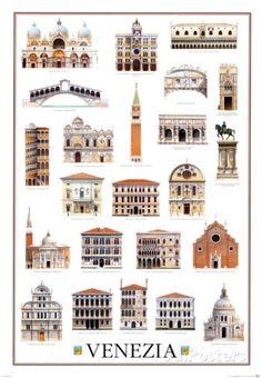 Architektur in Venedig, Architecture, Venice Poster