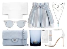 """""""Sin título #705"""" by laurenhipster ❤ liked on Polyvore featuring Zimmermann, Rosetta Getty, Zara, Chanel, By Nord, Native Union and Sun Buddies"""