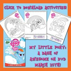 My Little Pony Friendship Is Magic: A Dash Of Awesome Activity Sheets