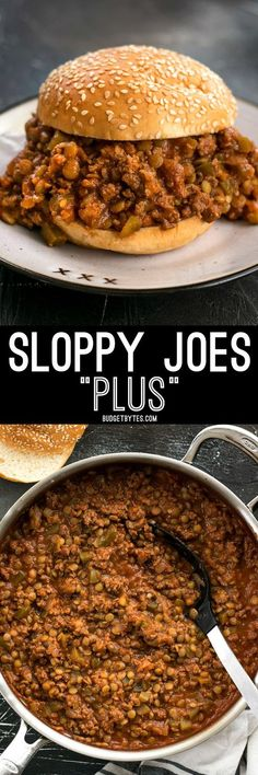 The plus in Sloppy Joes Plus is lentils! Tender lentils make the perfect addition to ground beef and increase the texture, flavor, and nutrients!
