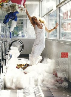 """Laundry Day"" Steven Meisel for Vogue December 2005"