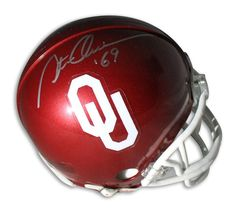 "Steve Owens Oklahoma Sooners Autographed Mini Helmet Inscribed """"69"""" for the year he won the Heisman Trophy."