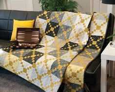 The Gold Dust lap quilt pattern designed by Gerri Robinson of Planted Seed Designs takes a simple design and elevates it to sophisticated elegance. Strip piecing makes the quilt blocks fast and easy. Strip Quilts, Patch Quilt, Quilt Blocks, Lap Quilt Patterns, Sewing Patterns, Neutral Quilt, Irish Chain Quilt, Fall Quilts, Colorful Quilts
