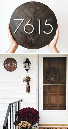 House Numbers, House Number Plaque, House Number porch decor, House Number Sign, Modern House Number, Address Plaque, housewarming gift idea, Address Sign, Home decor #ad