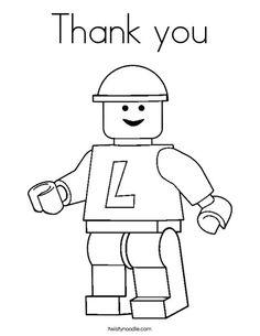 Thank you Coloring Page - Twisty Noodle