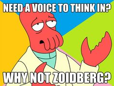 """MY WHOLE LIFE HAS BEEN A LIE  edit: i found out that zoidberg never actually said, """"why not zoidberg?"""" in the entire series."""