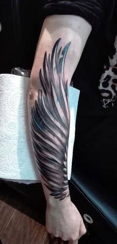 custom wing design by DorianBakalov on DeviantArt Wing Tattoo – Fashion Tattoos Forearm Wing Tattoo, Tribal Scorpion Tattoo, Cool Forearm Tattoos, Cool Small Tattoos, Badass Tattoos, Arm Tattoos For Guys, Trendy Tattoos, Body Art Tattoos, Sleeve Tattoos