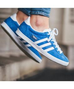 save off be076 12c75 Adidas Gazelle OG Navy Blue White Trainer Blue Gold, Blue And White, Navy  Blue