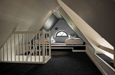 Cozy in the attic, fixed stairs to the loft, can stand, extra hobby room - Treppe dachboden - Bedroom Ideas Model Architecture, Architecture Design Concept, Attic Renovation, Attic Remodel, Attic Bedrooms, Loft Room, Room Closet, Bed Room, Attic Conversion