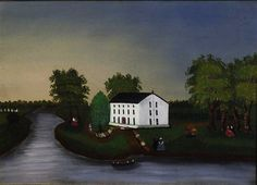 THE WHITE HOUSE / artist unidentified, Pennsylvania, c.1855, oil on canvas,  12 3/4 x 17 3/4 in., American Folk Art Museum, gift of Robert Bishop and Cyril Irwin Nelson, 1992.10.14, photo by John Parnell