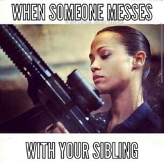 Growing up with siblings.