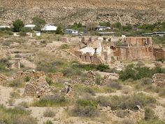 Shafter Texas Ghost Town small old mining town in the Chihuahuan ...