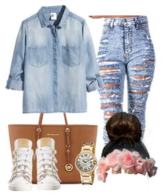 """""""."""" by xrated-trends ❤ liked on Polyvore featuring MICHAEL Michael Kors, H&M and Giuseppe Zanotti"""