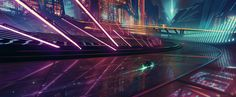 A Tron's style scene inspired by the colors of NERVE movie! *3*