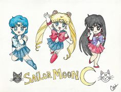I used to love drawing Sailor Moon.