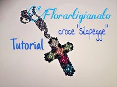 "TUTORIAL PERLINE CROCE ""SILAPEGGE"" DIY - YouTube"