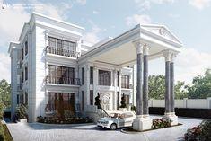 Classic villa exterior by kasrawy.deviantart.com on @DeviantArt