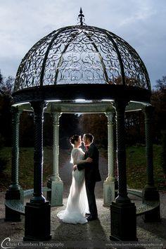 Rossington Hall wedding photography | Rossington Hall wedding photographer | http://www.chrischambersphotography.co.uk Under the gazebo at Rossington Hall