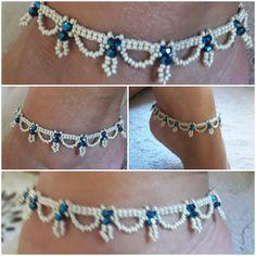 Anklet Jewelry, Beach Jewelry, Anklets, Bead Earrings, Crochet Earrings, Beaded Necklace, Beaded Bracelets, Ankle Bracelets, Loom Beading