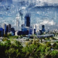 Stretched Canvas Print of Perth Western Australia by ArtbyOlafur, $62.00