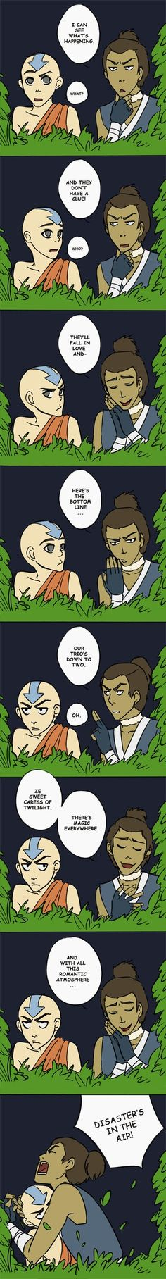 I can see this happening when katara first meets jet