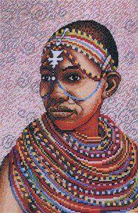 Young Massai Girl - Cross Stitch Kit: Amazon.co.uk: Kitchen & Home