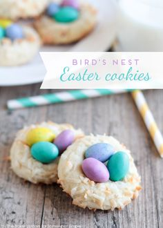 Birds Nest Easter Cookies