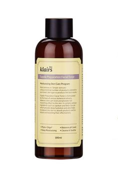 """The 18 Korean Beauty Buys That Always Sell Out #refinery29  http://www.refinery29.com/best-korean-beauty-products#slide-17  """"The Klairs Toner is a longtime fan favorite,"""" Myung says.""""It's great for people of all skin types and has been constantly gaining popularity."""" She also notes that it's been featured as the number-one toner on Korean app Glowpick.Klairs Supple Preparation Facia..."""