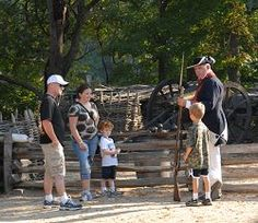 Jamestown Settlement and the Yorktown Victory Center SPECIAL OFFER – History is Fun! Save 20% A family meets a soldier at the Yorktown Victory Center