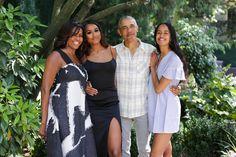 Michelle Obama, Sasha Obama, Barack Obama and Malia Obama Malia Obama, Barack Obama Family, Obamas Family, Khloe Kardashian, Blue Ivy, Kelly Rowland, Gabrielle Union, Christina Milian, Teyana Taylor