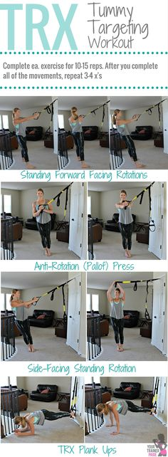 Tummy Targeting TRX Workout - Your Trainer Paige #fitfluential #trx #trxworkout