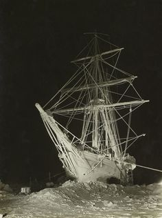 The Endurance in the garb of winter (June 1915) by Frank Hurley