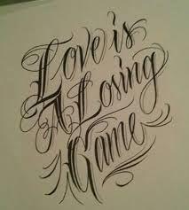 Resultado de imagem para tattoo letras chicanas Just Love
