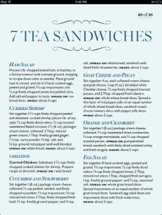 7 Tea Sandwiches (bad link but everything is in the pin) Afternoon Tea Parties, Christmas Tea, Thinking Day, Just In Case, My Cup Of Tea, Tea Pots, Sandwich Ideas, Tea Party Sandwiches Recipes, Cucumber Tea Sandwiches