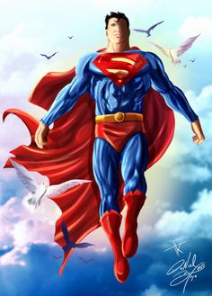 Superman up in the heavens <3